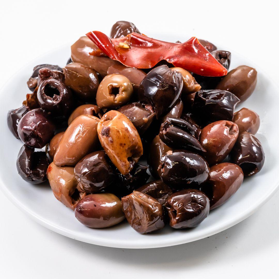 Olive leccine denocciolate piccanti