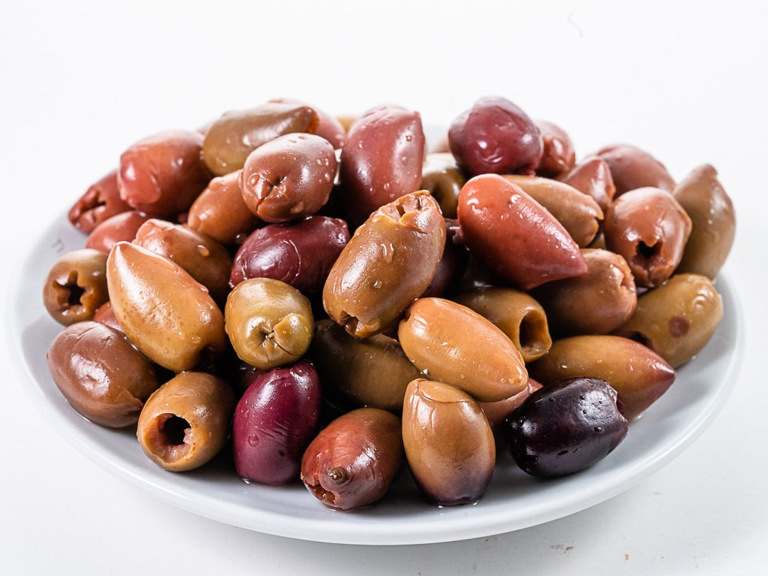 Olive leccine in salamoia denocciolate